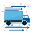 icon the truck is going sign of delivery and vector image