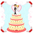 Romantic Wedding Cake vector image