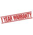 1 year warranty stamp vector image vector image