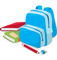 school backpack and book