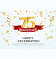 75 years anniversary banner template vector image vector image