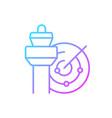 air traffic control gradient linear icon