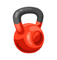 athletic red kettlebell vector image vector image