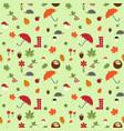 autumn flat pattern vector image vector image