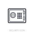 bank safe outline icon security sign vector image vector image