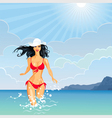 beautiful brunette vector image vector image