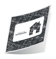 Black architecture sticker 2 vector image