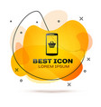 black shopping basket on screen smartphone icon vector image vector image