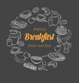 breakfast and brunch banner vector image