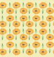 bright daisy garden print repeating seamless vector image