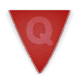 Bunting flag letter Q vector image vector image