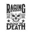 car racing skull t-shirt print sport rally races vector image vector image