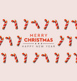 christmas background with candy canes decorative vector image vector image