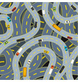 complicated highway roads with different cars top vector image vector image