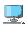computer device icon vector image vector image