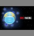 corona virus pandemic poster banner vector image