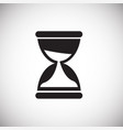 coworking time management sand watch on white vector image