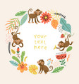 cute and funny monkeys set characters vector image vector image