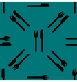 cutlery knife fork web icon flat design Seamless vector image vector image