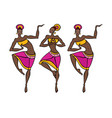 dancing woman in ethnic style vector image vector image