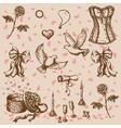 Doodle valentine vector image vector image