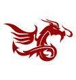 dragon wing logo design mascot template isolated vector image vector image