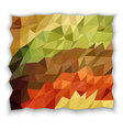 Earth tone color of triangle abstract wallpaper vector image vector image