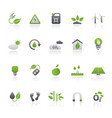 ecology environment and nature icons 3 vector image vector image
