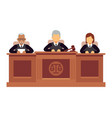federal supreme court with judges jurisprudence vector image
