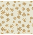 Flower pastel brown seamless pattern vector image vector image