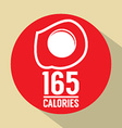 Fried Egg 165 Calories Symbol vector image vector image