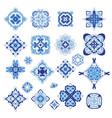geometric damask medallion template set vector image