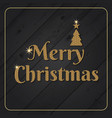 glitter gold merry christmas background vector image