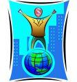 global man vector image vector image