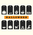 Halloween gift tags templates set