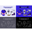 Hockey Sportswear Objects vector image