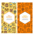 honey signs banner vecrtical card set vector image