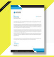 letterhead template vector image vector image