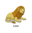 Lion african savannah cartoon vector image
