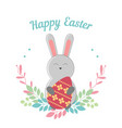 lovely childrens card for the feast of easter vector image vector image