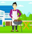 Man preparing barbecue vector image
