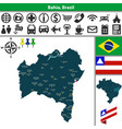 map bahia brazil vector image