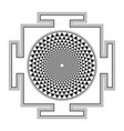 monocrome outline sahasrara yantra vector image vector image