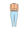 nice woman wear style design vector image