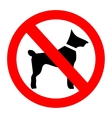 No dogs sign isolated on white background vector image vector image