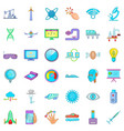 observatory icons set cartoon style vector image vector image