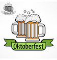 oktoberfest icon with tape vector image vector image