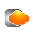 orange cloud technology logo template design vector image vector image