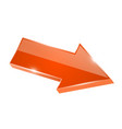orange shiny arrow 3d vector image vector image