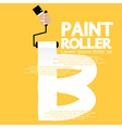 Paint Roller Alphabet B vector image vector image